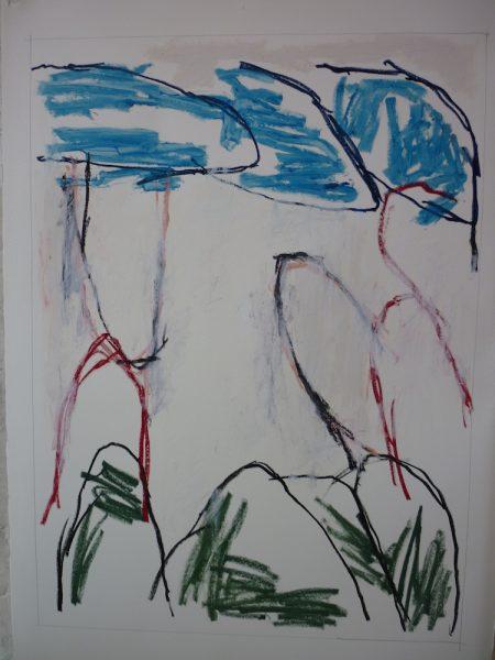 GRAY Victor, Peinture Pastel à l'huile sur papier 90x66