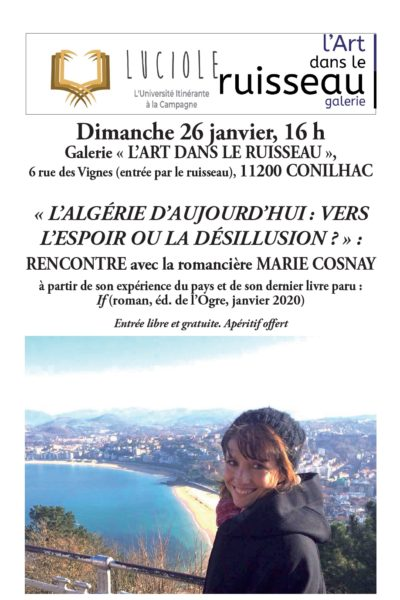 Affiche Rencontre Marie Cosnay Conilhac